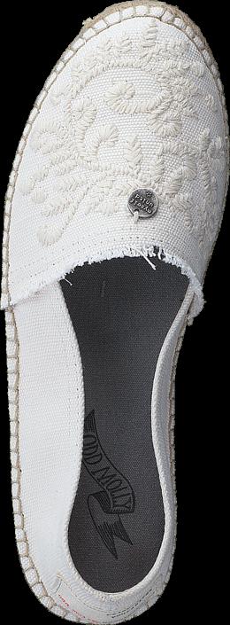 Kjøp Odd Molly Oddspadrillos Embroidered Shell Hvite Sko Online