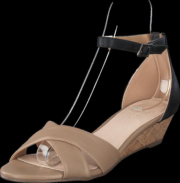 Kjøp Bianco Low Wedge Sandal Beige Beige Sko Online