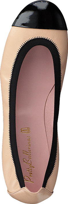 Kjøp Pretty Ballerinas 37190 Beige/Black Leather Rosa Sko Online