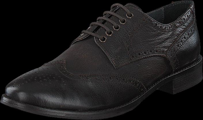 Kjøp Frank Wright Merc Brown Leather Svarte Sko Online