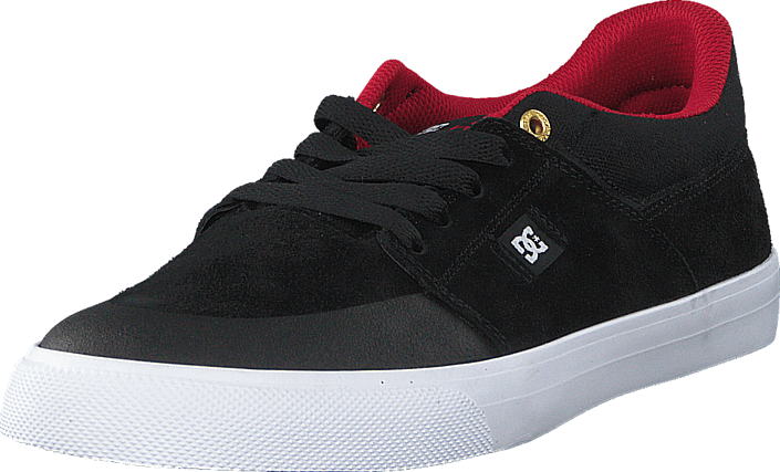 Kjøp DC Shoes Wes Kramer Black/ Athletic Red/ White Svarte Sko Online