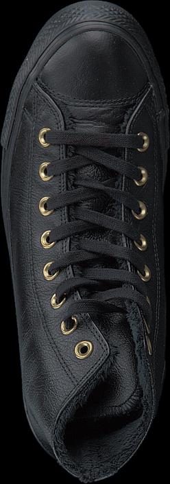 Kjøp Converse All Star Shearling Leather-Hi Black/Black/Black Grå Sko Online