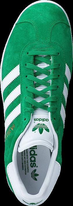 Kjøp adidas Originals Gazelle Green/White/Gold Met. Grønne Sko Online