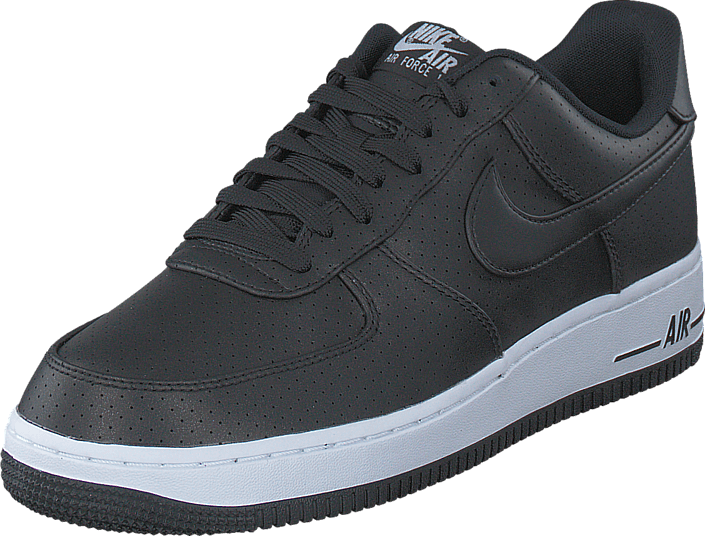 Kjøp Nike Air Force 1 07 Black/Black-White Grå Sko Online
