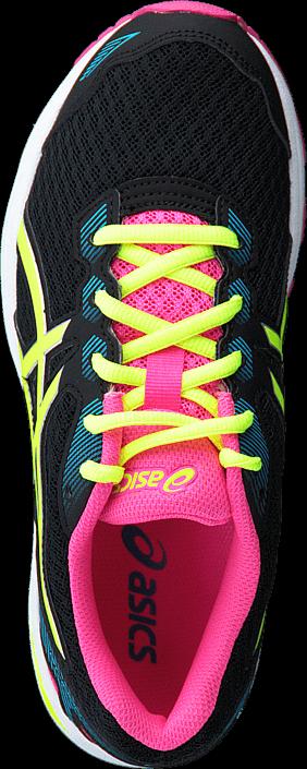 Kjøp Asics GT 1000 5 Gs Black/Safety Yellow/Pink Glow Svarte Sko Online