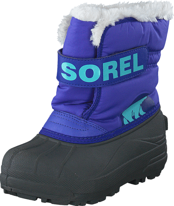 Kjøp Sorel Childrens Snow Commander Purple Lotus, Clear Blue Grå Sko Online