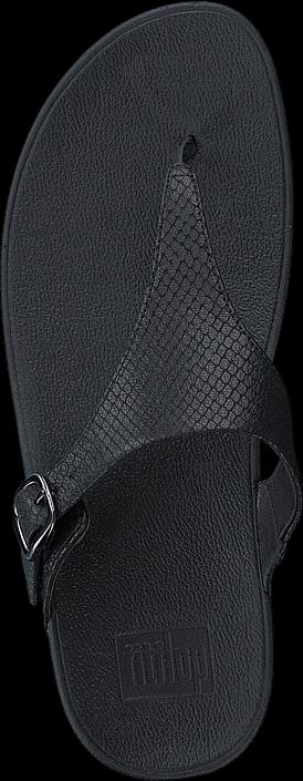 Kjøp Fitflop The Skinny Snake TP Black Grå Sko Online