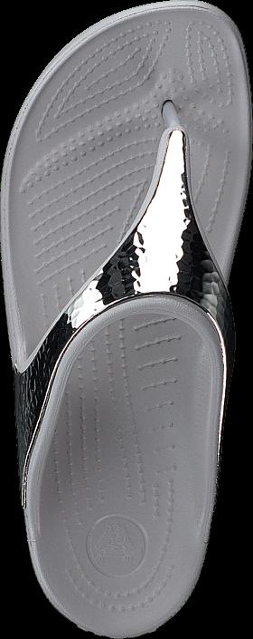 Kjøp Crocs Crocs Sloane Embellished Flip Platinum/Platinum Grå Sko Online