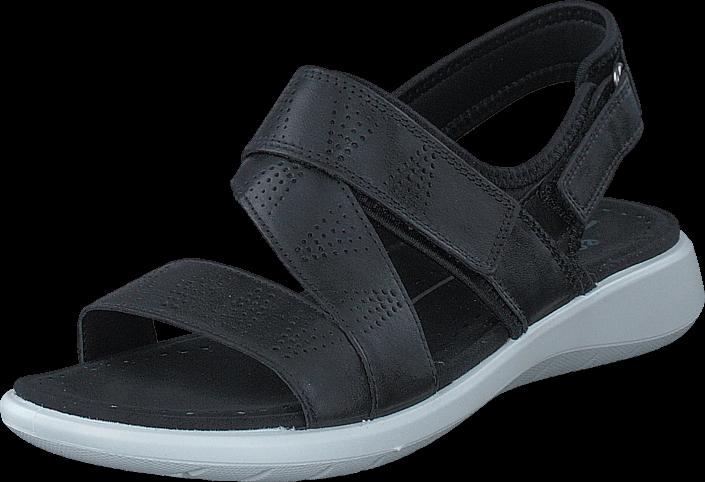 Kjøp Ecco 218533 Soft 5 Sandal Black/ Black Grå Sko Online