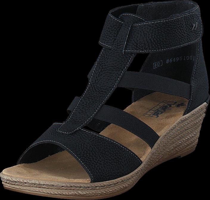Kjøp Rieker 62439-00 Black Svarte Sko Online