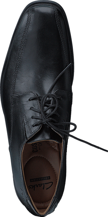 Kjøp Clarks Tilden Walk Black Leather Svarte Sko Online