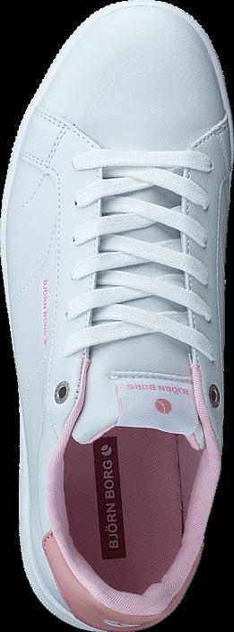 Kjøp Björn Borg T300 Low CLS W White/Lt Pink Hvite Sko Online