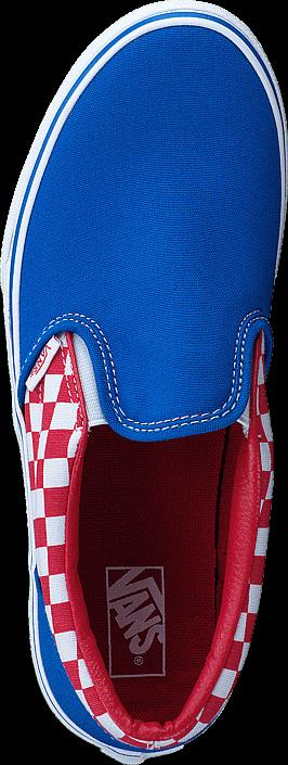 Kjøp Vans UY Classic Slip-On racing red/imperial blue Blå Sko Online