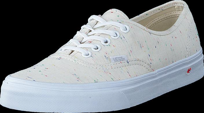Kjøp Vans UA Authentic cream/true white Hvite Sko Online