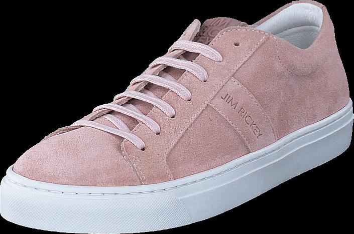 Kjøp Jim Rickey Ace Lo Suede Womens Dusty Pink Rosa Sko Online