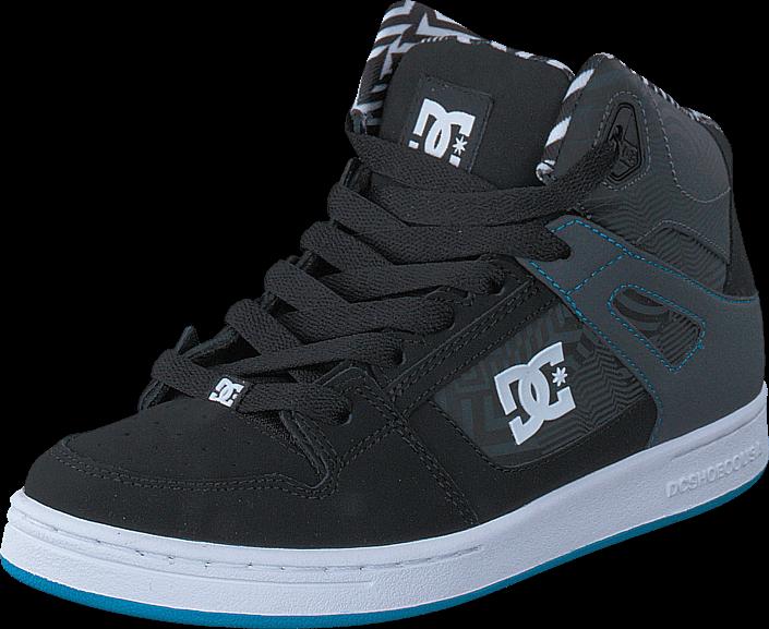 Kjøp DC Shoes Rebound KB B Shoe Black/White/Blue Grå Sko Online