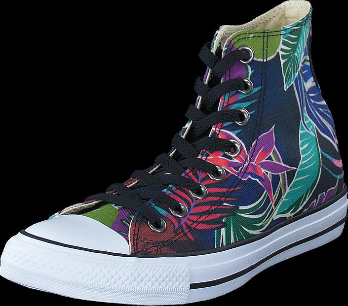 Kjøp Converse All Star Tropical Print Hi Fuschia Glow/Menta Turkis Sko Online