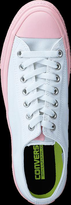 Kjøp Converse Chuck Taylor All Star II Ox White/ Vapor Pink Hvite Sko Online