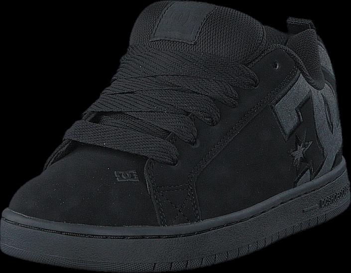 Kjøp DC Shoes Court Graffik SE Black Destroy Wash Svarte Sko Online