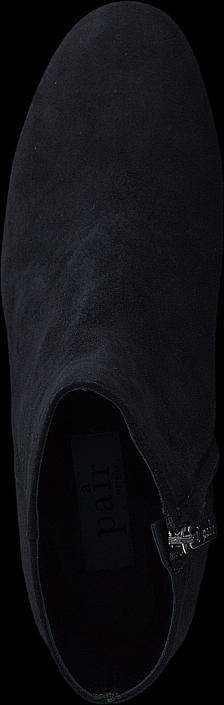 Kjøp A Pair Bootlet W/Chunky Heel Black Suede Svarte Sko Online