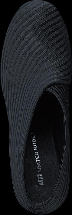Kjøp United Nude Fold Mid Black Elastic Fabric Grå Sko Online