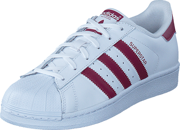 Kjøp adidas Originals Superstar Ftwr White/Mystery Ruby F17/Ft Hvite Sko Online