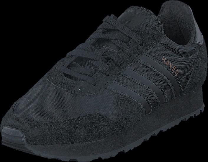 Kjøp adidas Originals Haven J Core Black/Core Black/Core Bla Svarte Sko Online