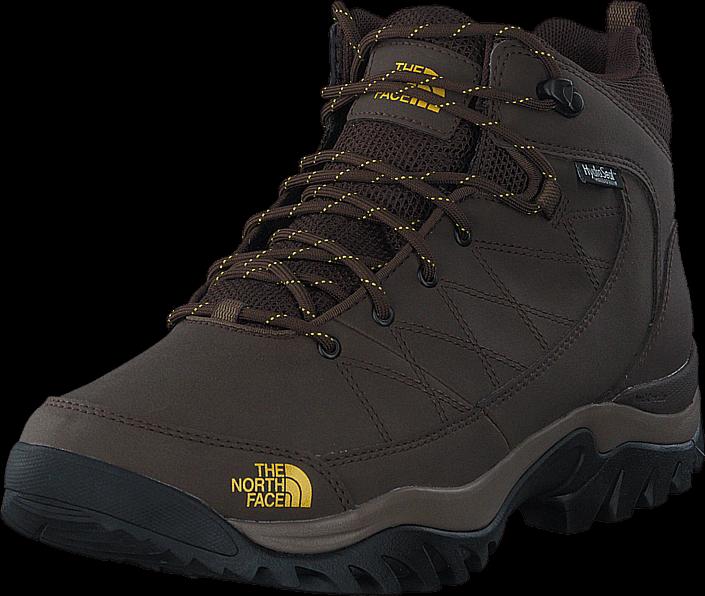 Kjøp The North Face Mens Storm Strike WP Slate Grey/ Leopard Yellow Svarte Sko Online