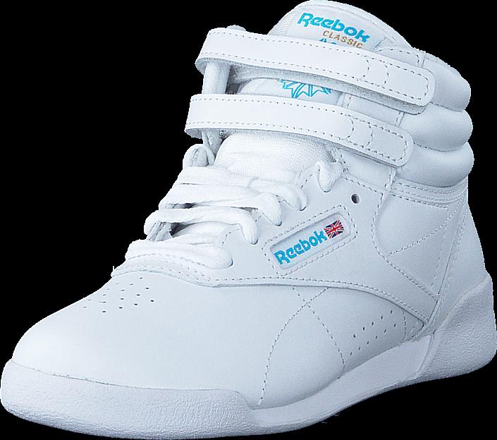 Kjøp Reebok Classic F/S Hi White/Lt. Blue - IntL Hvite Sko Online