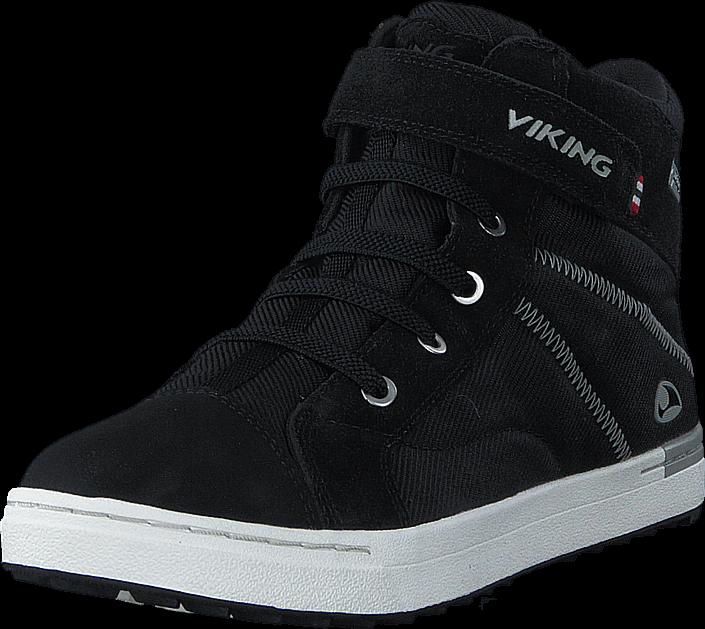 Kjøp Viking Sagene Mid GTX Black/White Svarte Sko Online