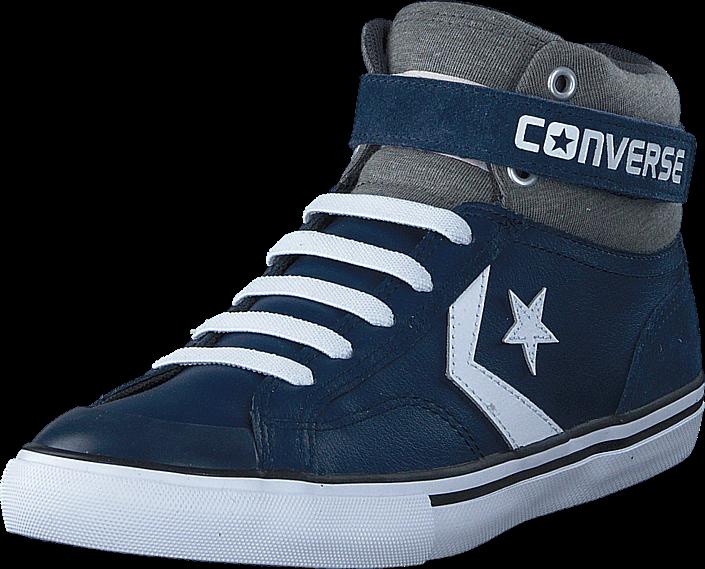 Kjøp Converse Pro Blaze Strap Ltr Suede Hi Navy/Storm Wind/White Blå Sko Online