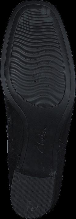 Kjøp Clarks Kensett Diana Black Leather Grå Sko Online