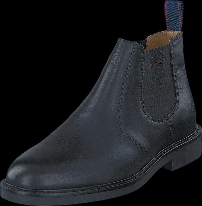 Kjøp Gant Spencer G00 Black Leather Blå Sko Online
