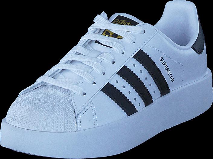 Kjøp adidas Originals Superstar Bold W Ftwr White/Core Black/Gold Met Blå Sko Online