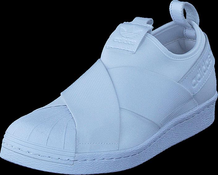 Kjøp adidas Originals Superstar Slipon Ftwr White/Ftwr White Blå Sko Online