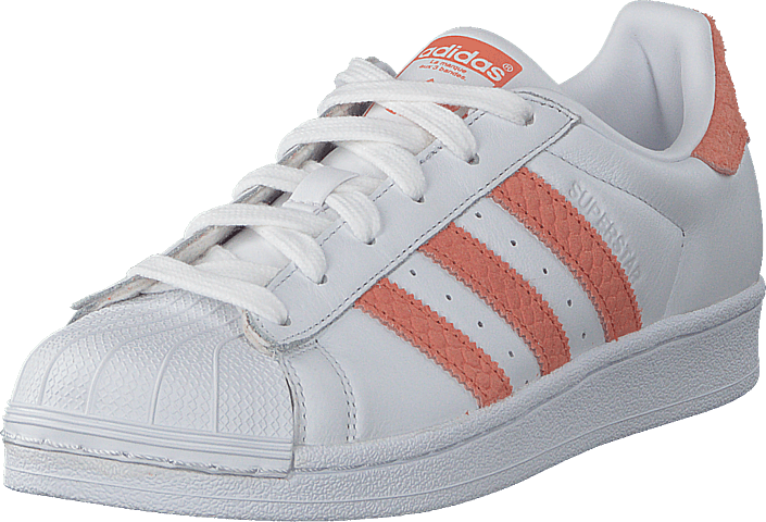 Kjøp adidas Originals Superstar W Ftwr White/ChalkCoral/OffWhite Hvite Sko Online