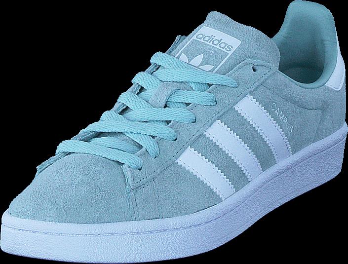 Kjøp adidas Originals Campus Ash Green S18/Ftwr White Blå Sko Online