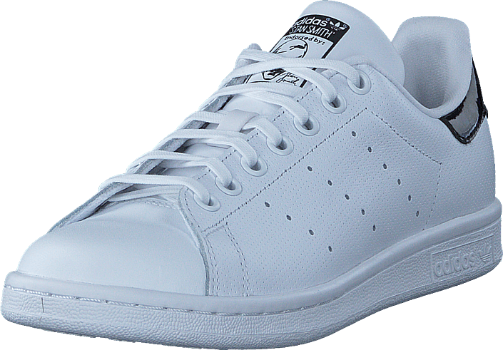Kjøp adidas Originals Stan Smith J Ftwr White/Core Black Blå Sko Online