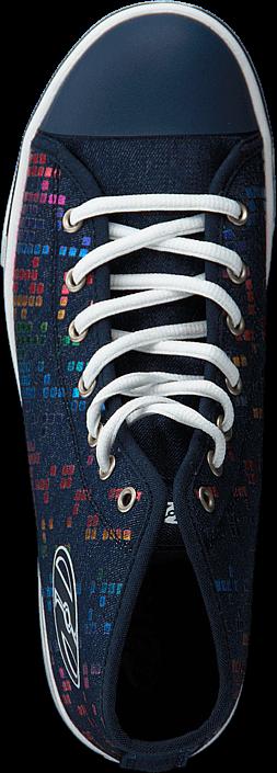 Kjøp Heelys Heelys Veloz Denim/rainbow Block Print Blå Sko Online