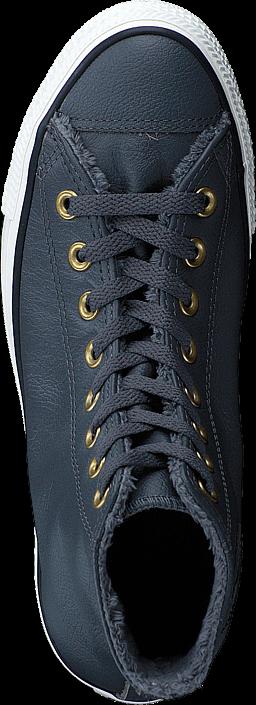 Kjøp Converse All Star Leather Hi Thunder/Egret Blå Sko Online