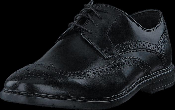 Kjøp Clarks Barnabury Limit Black Leather Grå Sko Online