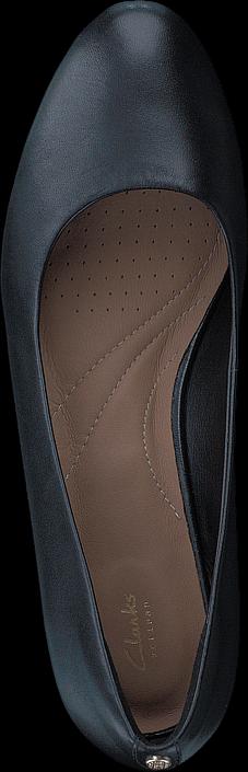 Kjøp Clarks Vendra Bloom Black Leather Blå Sko Online