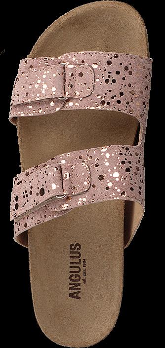 Kjøp Angulus Footbed Sandal With Velcro Black W. Black Dot Brune Sko Online
