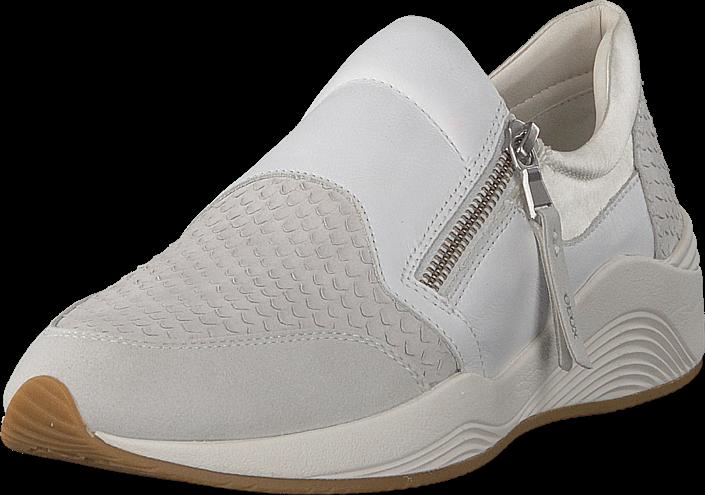 Kjøp Geox D Omaya Off White Hvite Sko Online