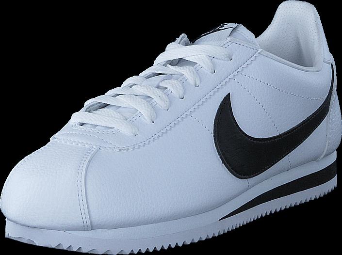 Kjøp Nike Classic Cortez Leather White/black Blå Sko Online