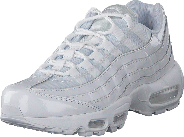 Kjøp Nike Womens Nike Air Max 95 White/white-white Hvite Sko Online