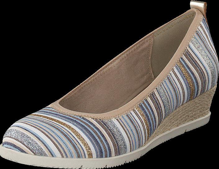 Kjøp Tamaris 22301-818 Blue Comb Beige Sko Online