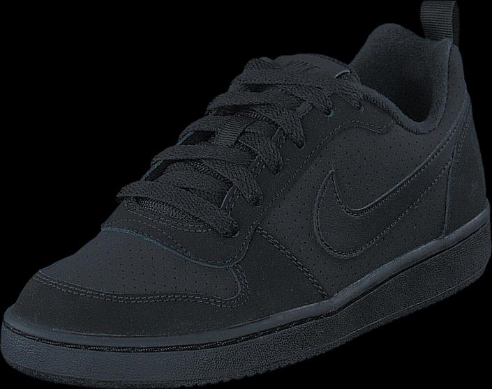 Kjøp Nike Nike Court Borough Low Gs Black/black-black Blå Sko Online