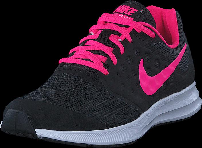 Kjøp Nike Downshifter 7 Gs Black/hyper Pink-white Svarte Sko Online