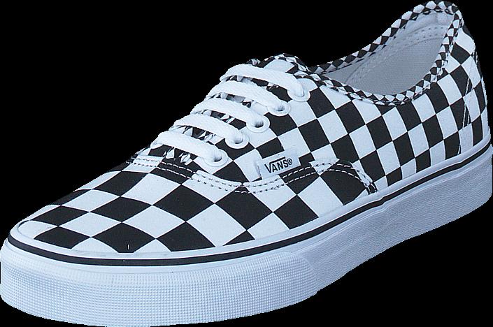 Kjøp Vans Ua Authentic Mix Checker Black/white Blå Sko Online